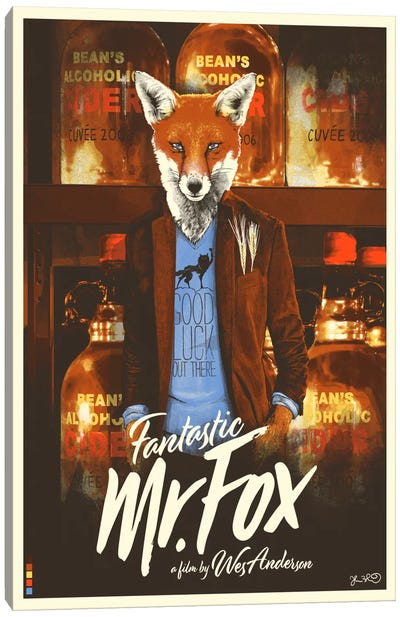 Fantastic Mr. Fox Canvas Print #JBD12