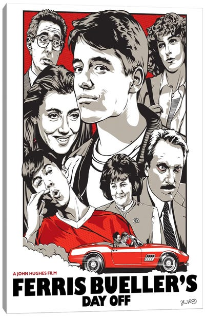 Ferris Bueller's Day Off Canvas Print #JBD13
