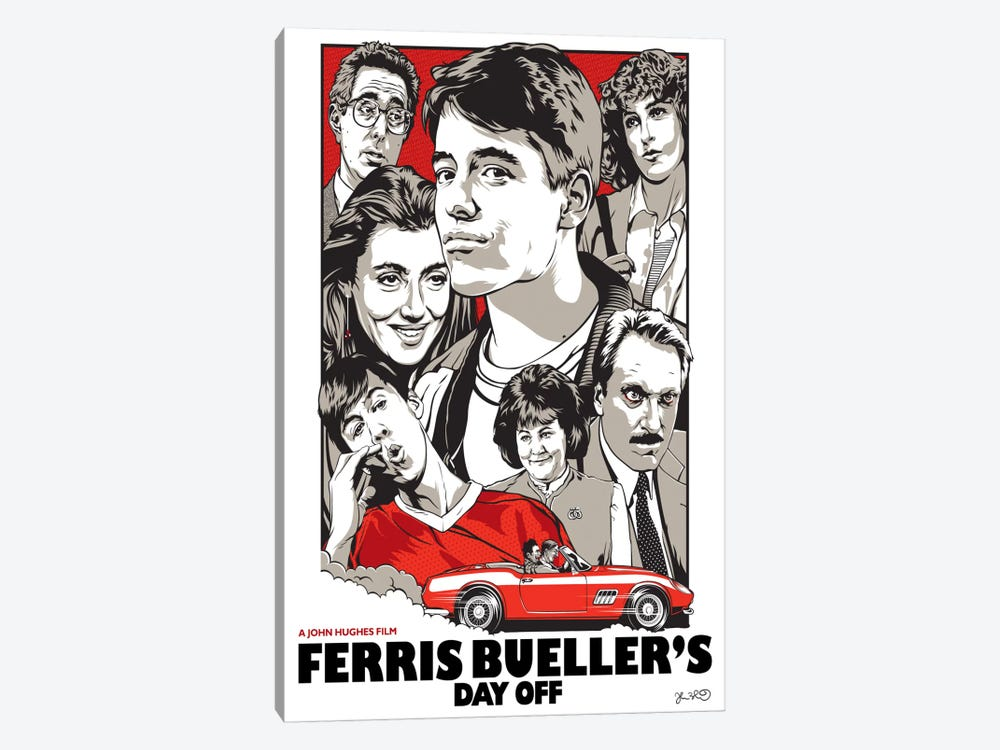 Ferris Bueller's Day Off by Joshua Budich 1-piece Canvas Art