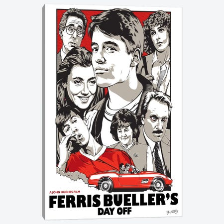 Ferris Bueller's Day Off Canvas Print #JBD13} by Joshua Budich Canvas Wall Art