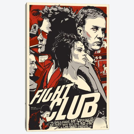 Fight Club Canvas Print #JBD14} by Joshua Budich Canvas Art Print