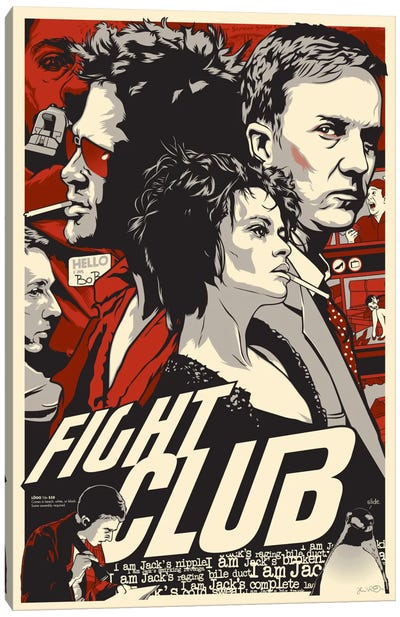 Fight Club Canvas Print #JBD14