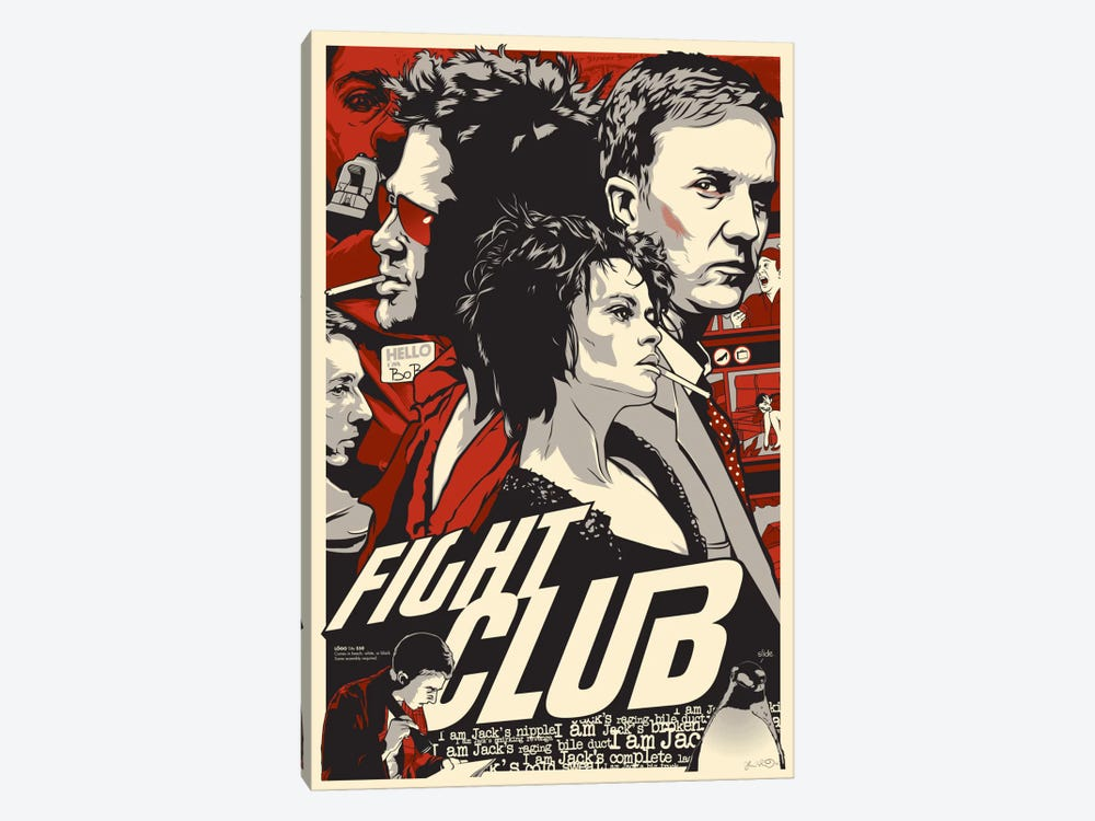 Fight Club by Joshua Budich 1-piece Canvas Art Print