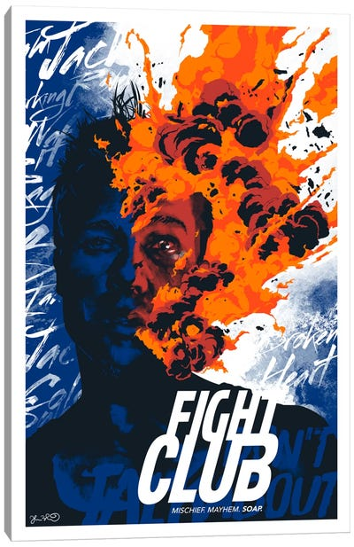 Fight Club: Mischief. Mayhem. Soap Canvas Art Print
