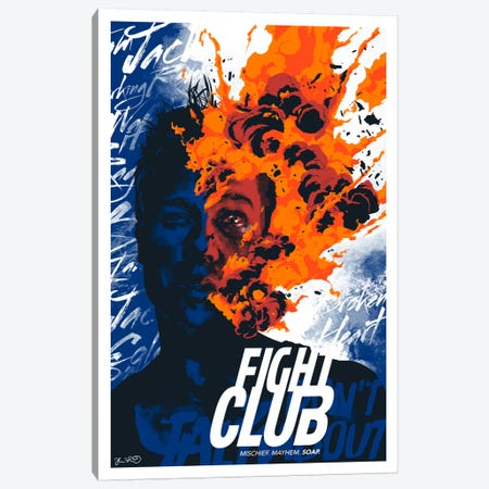 Fight Club: Mischief. Mayhem. Soap Canvas Print #JBD15} by Joshua Budich Canvas Print