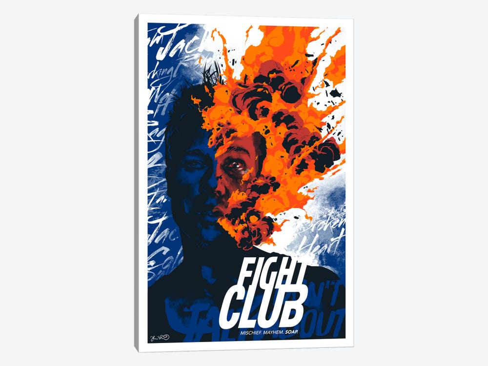 Fight Club: Mischief. Mayhem. Soap by Joshua Budich 1-piece Canvas Artwork