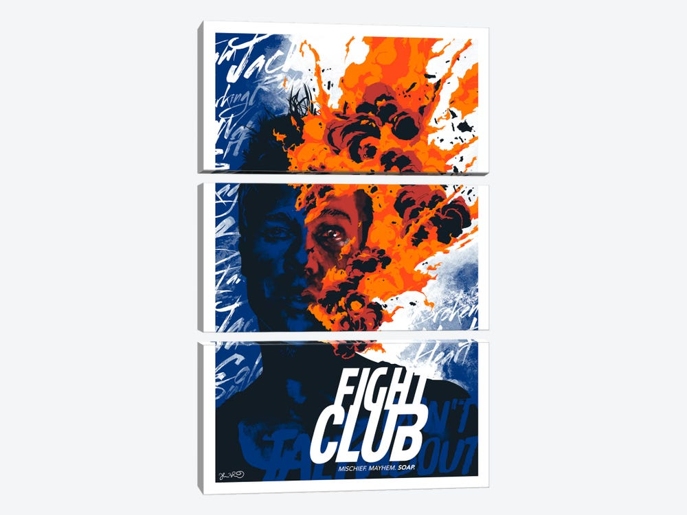Fight Club: Mischief. Mayhem. Soap by Joshua Budich 3-piece Canvas Art