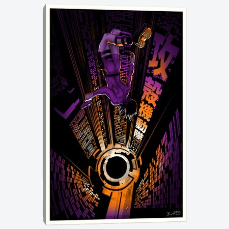 Ghost In The Shell Canvas Print #JBD16} by Joshua Budich Canvas Print