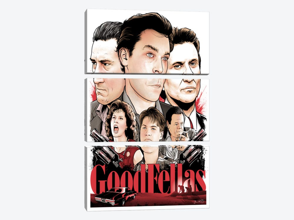 Goodfellas by Joshua Budich 3-piece Canvas Art