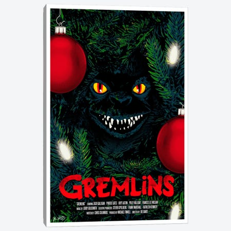 Gremlins Canvas Print #JBD18} by Joshua Budich Canvas Artwork