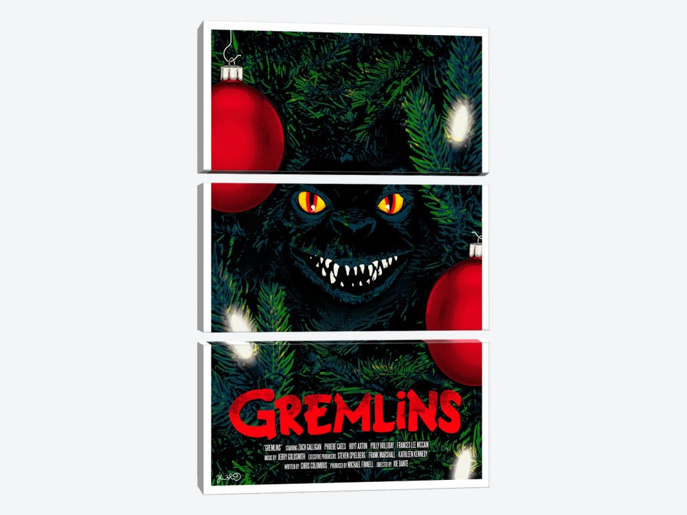 Gremlins by Joshua Budich 3-piece Canvas Print
