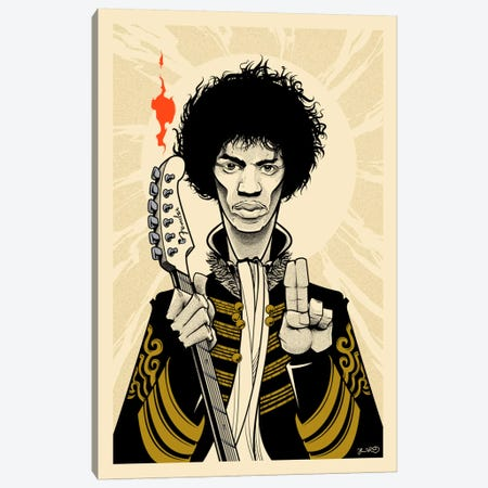 Hendrix Canvas Print #JBD19} by Joshua Budich Canvas Wall Art