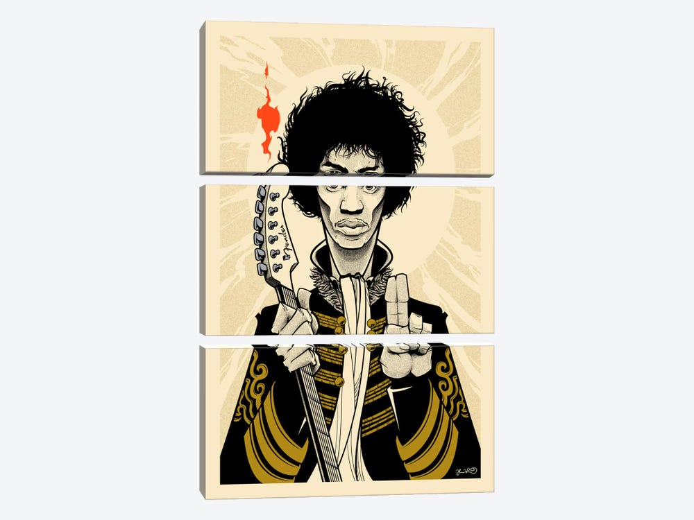 Hendrix by Joshua Budich 3-piece Canvas Artwork