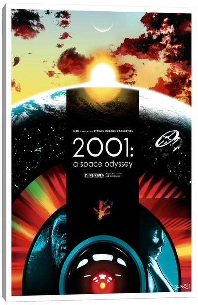 2001: A Space Odyssey Canvas Print #JBD1