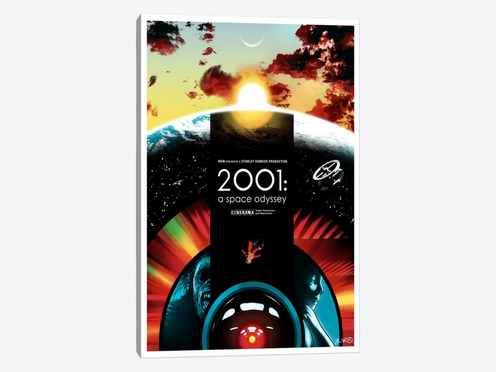 2001: A Space Odyssey by Joshua Budich 1-piece Canvas Wall Art
