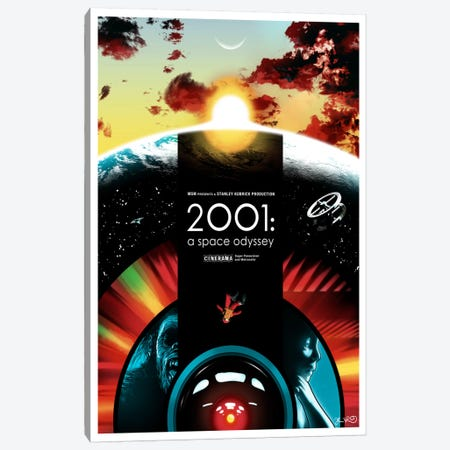 2001: A Space Odyssey Canvas Print #JBD1} by Joshua Budich Canvas Print