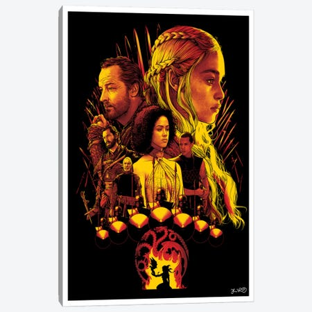 House Targaryen Canvas Print #JBD20} by Joshua Budich Art Print
