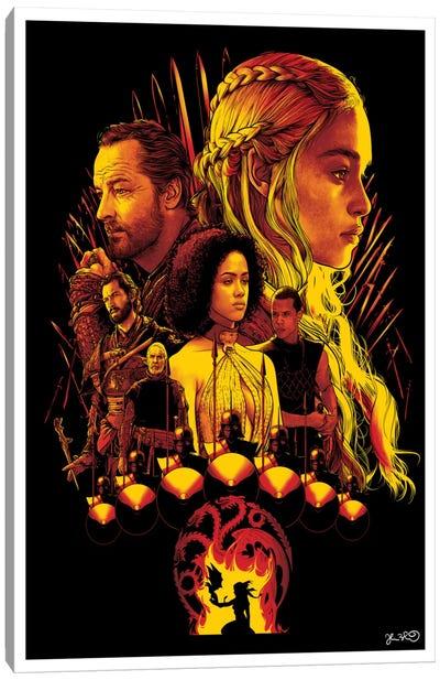 House Targaryen Canvas Print #JBD20