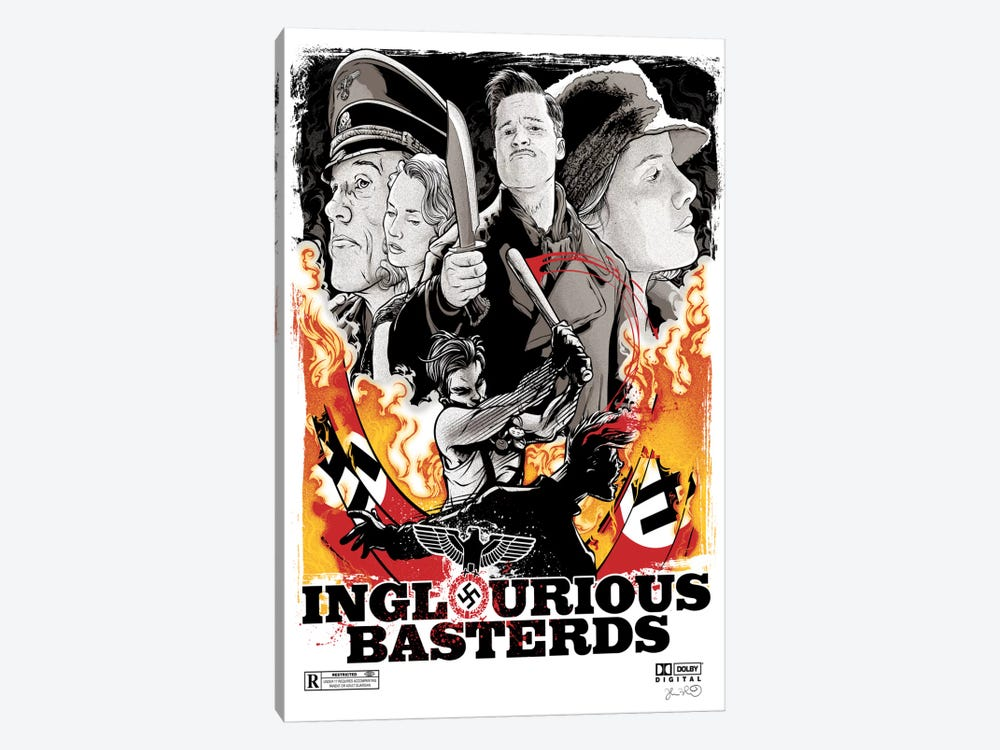 Inglourious Basterds by Joshua Budich 1-piece Canvas Artwork