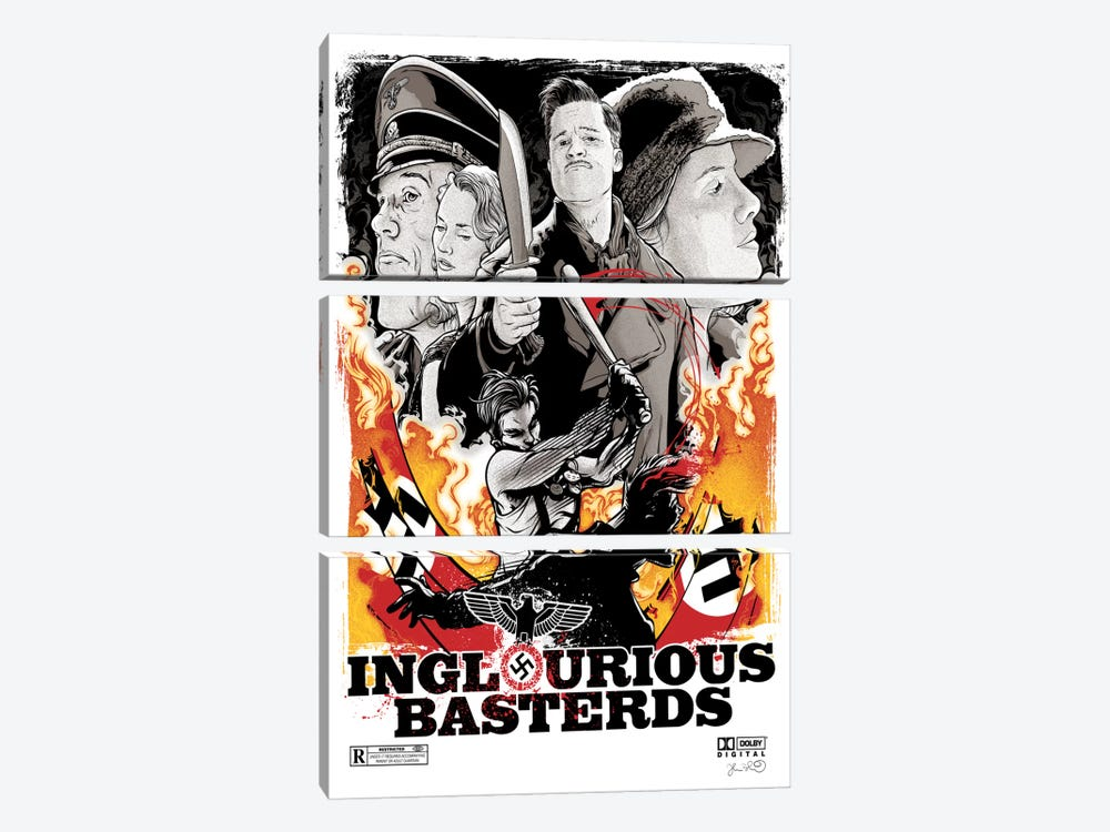 Inglourious Basterds by Joshua Budich 3-piece Canvas Art