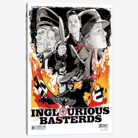 Inglourious Basterds Canvas Print #JBD22} by Joshua Budich Art Print
