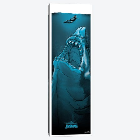 Jaws Canvas Print #JBD23} by Joshua Budich Art Print