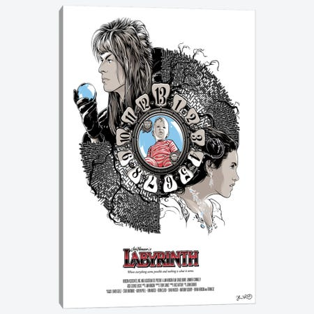 Labyrinth Canvas Print #JBD26} by Joshua Budich Canvas Wall Art