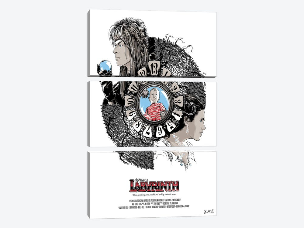 Labyrinth by Joshua Budich 3-piece Canvas Art