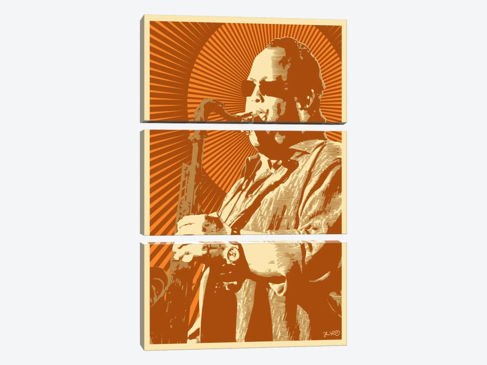 Leroi Moore by Joshua Budich 3-piece Canvas Print