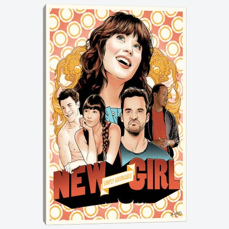 New Girl Canvas Print #JBD29} by Joshua Budich Canvas Art Print