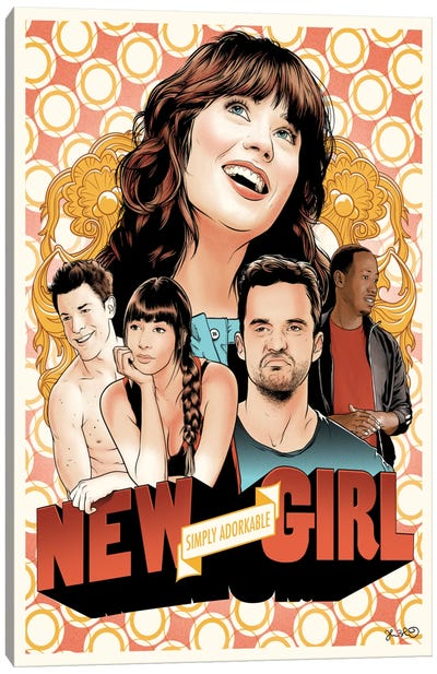 New Girl Canvas Art Print