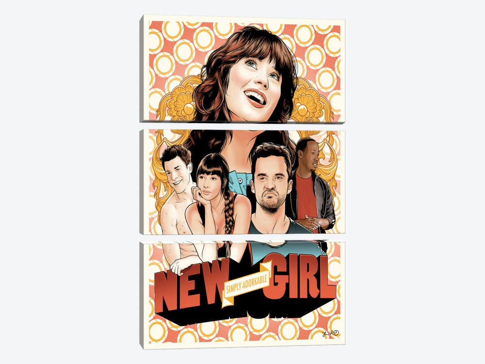 New Girl by Joshua Budich 3-piece Art Print