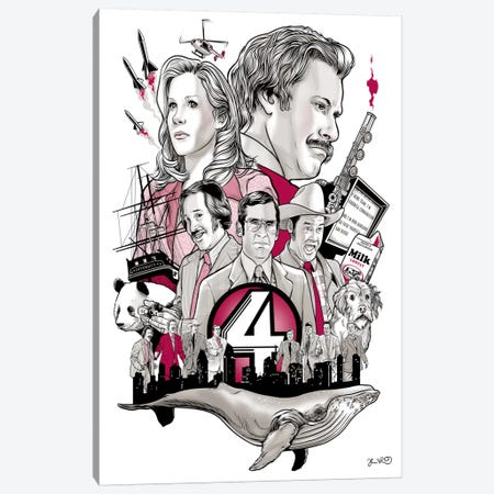 Anchorman Canvas Print #JBD2} by Joshua Budich Art Print