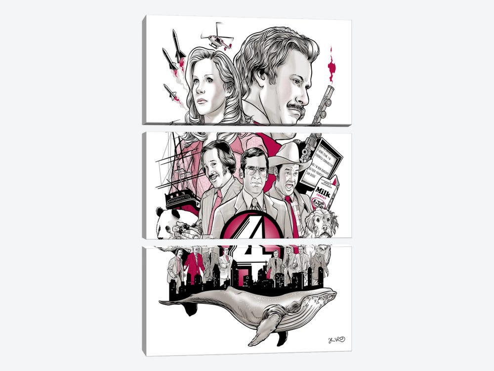 Anchorman by Joshua Budich 3-piece Art Print