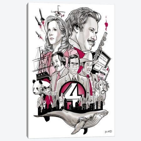 Anchorman Canvas Print #JBD2} by Joshua Budich Art Print