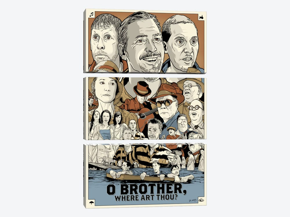 O Brother Where Art Thou? 3-piece Art Print