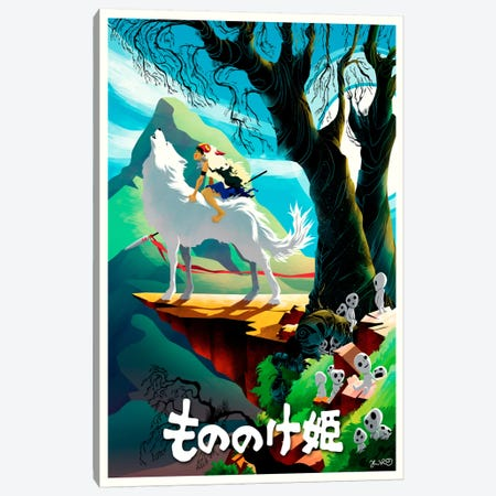 Princess Mononoke Canvas Print #JBD32} by Joshua Budich Canvas Artwork