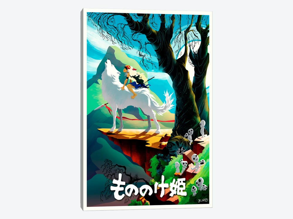 Princess Mononoke by Joshua Budich 1-piece Canvas Print