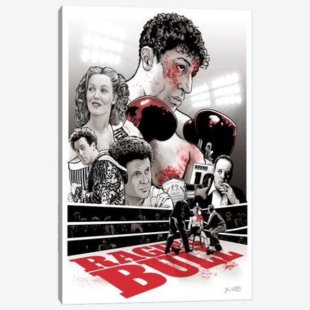 Raging Bull Canvas Print #JBD35} by Joshua Budich Canvas Print