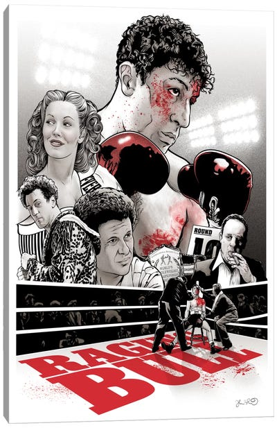 Raging Bull Canvas Art Print