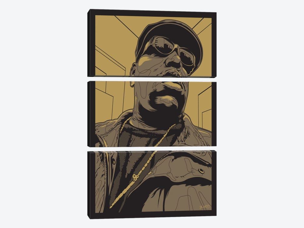 Biggie by Joshua Budich 3-piece Canvas Art