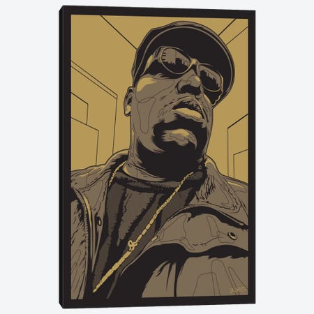 Biggie 3-Piece Canvas #JBD3} by Joshua Budich Canvas Print