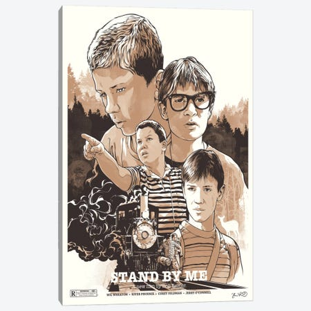 Stand By Me Canvas Print #JBD40} by Joshua Budich Canvas Print
