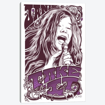 Take It (Janis Joplin) Canvas Print #JBD43} by Joshua Budich Art Print