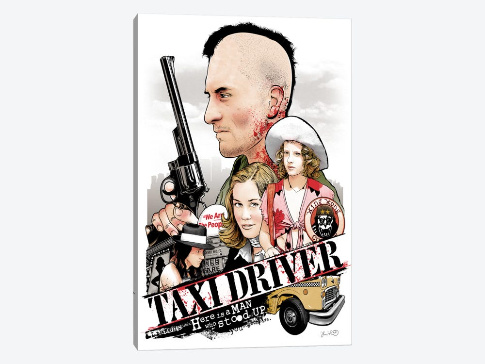 Taxi Driver by Joshua Budich 1-piece Canvas Wall Art