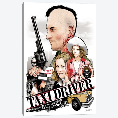 Taxi Driver Canvas Print #JBD44} by Joshua Budich Canvas Art