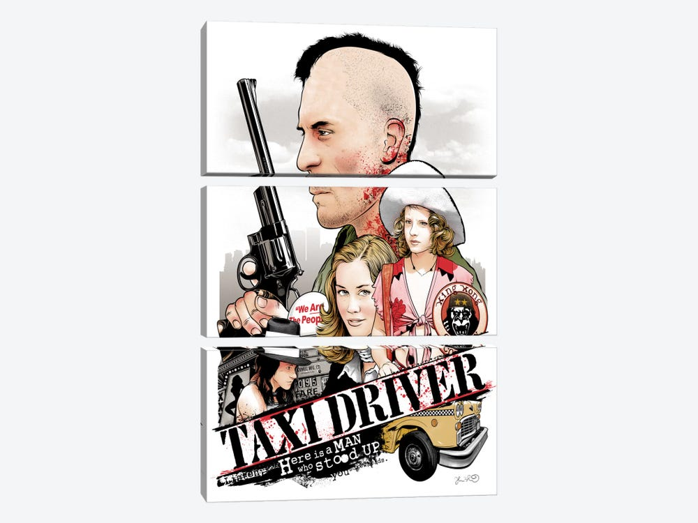 Taxi Driver by Joshua Budich 3-piece Canvas Art