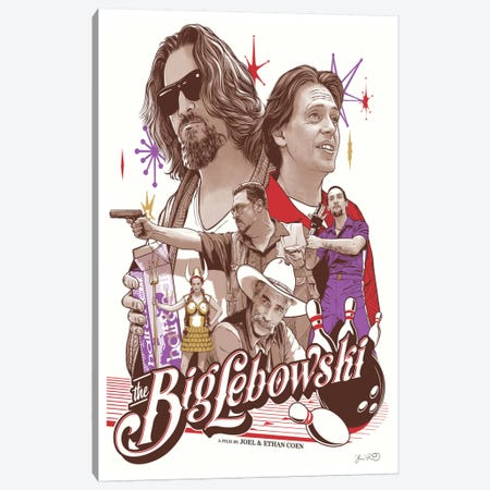 The Big Lebowski Canvas Print #JBD46} by Joshua Budich Canvas Art