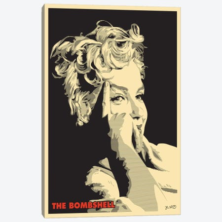 The Bombshell: Marilyn Monroe Canvas Print #JBD47} by Joshua Budich Canvas Wall Art