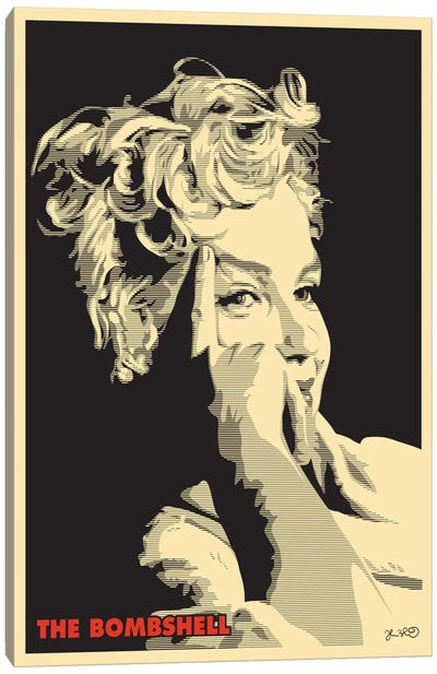 The Bombshell: Marilyn Monroe Canvas Print #JBD47
